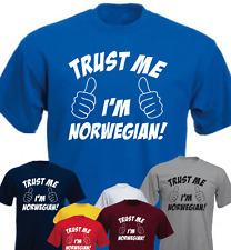 Trust Me I'am Norwegian ! Funny Birthday Present gift New T-shirt