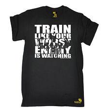 Train comme votre ennemi est regarder homme SWPS T-Shirt Cadeau D'anniversaire formation