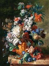 """Jan van Huysum : """"Bouquet of Flowers in an Urn"""" (1724) — Giclee Fine Art Print"""