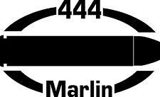 444 MARLIN gun pistol Ammunition Bullet exterior oval decal sticker car or wall