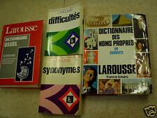 lot de 4 dictionnaires larousse  synonymes noms propres
