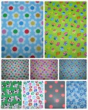 Fun Tweety Birds - Polka Dots-Flower Spring Polycotton Fabric Dress/Craft Fabric