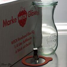6 Weck Einkochgläser Einmachgläser 1/4 ltr. Saftflasche / Karaffe ab 9,50€
