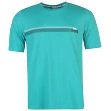 Lonsdale Two Stripe T-Shirt-Color Foglia Di Tè