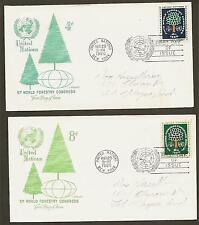 UN NY #81-82 4&8c World Forestry - Set of 2 Artmaster FDCs