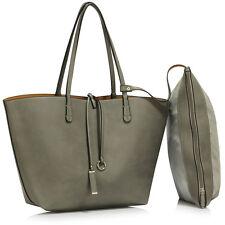 Ladies Large Shoulder Bags Womens Faux Leather Handbags Designer College Office