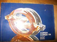 Opel CORSA - CORSA TR 1983 : notice d'entretien