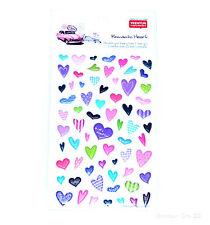 Corazón Pegatinas Craft Retro Papel De Scrapbook Rosa Amor diario boda regalo de arte