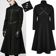 Manteau évasé gothique punk militaire métal sangle classe hiver PunkRave homme