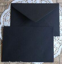 "20 x130x185mm BLACK fits 5""x7"" photo Envelopes 120gsm Wedding Invitation Envelop"