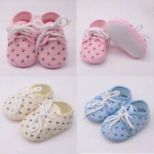 Newborn Baby Girls Shoes Letter Footprint Plaid Anti-Slip Footwear Crib Shoes