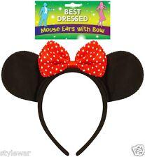 New de Halloween Orejas De Minnie Mouse con Moño Rojo Cabeza Banda gallina Disney Vestido de fantasía