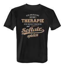 Therapie Softair Herren T-Shirt Fun Shirt Spruch Geschenk Idee Softairspieler