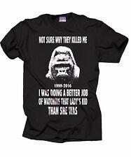 Harambe Gorilla T-shirt Harambe Gorilla T-shirt Support Harambe Cincinnati Zoo
