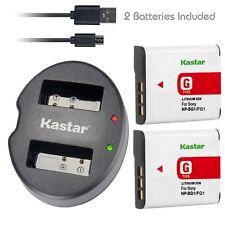 Kastar Battery & USB Dual Charger for Sony NP-BG1 FG1 Cyber-shot DSC-W120 DSC-H3