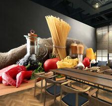 3D Kitchen Raw Food 1443 Wallpaper Decal Dercor Home Kids Nursery Mural Home