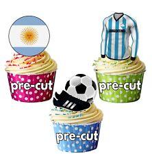 Precortadas Comestibles Argentina Fútbol Copa Mundial 2018 Adornos de Cupcake