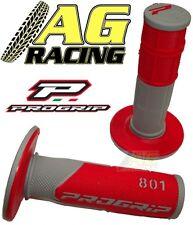 Pro Grip Progrip 801 Grips Grey Red Motocross Enduro Honda CR CRF XR XL CRM