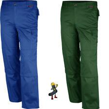 Pantaloni da Lavoro Abbigliamento tessuto misto qualitex NUOVO BLU & Verde