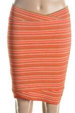 BCBG MaxAzria Adeline Skirt Saffron Combo Striped knee length orange NEW bandage