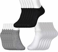 6-24 Pair Low Cut Ankle Socks Multi Pack for Men Women Sport Athletic
