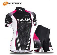 New Cycling Women Sports girls Jersey+shorts Bike wear Clothing Size S-XL
