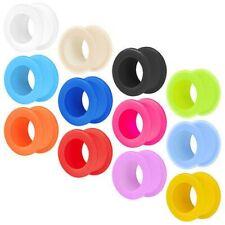 Silicone Flesh Tunnel Plug Ear Orecchio Tubo Colore Piercing Flessibile Morbido