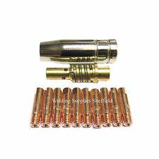10 x 0.8mm MIG TIP + MB15 MIG NOZZLE SHROUD SEALEY SIP DRAPER CLARKE