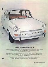 Skoda 1000MB MkII 1969-70 UK Market Leaflet Sales Brochure Standard De Luxe