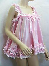 sissy dress ADULT satin babydoll negligee nighty fancy dress maid cosplay CD TV