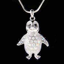 w Swarovski Crystal Baby Emperor Penguin Antarctica Jewelry Pendant Necklace New