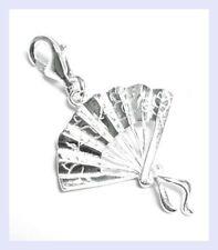 STR Silver Chinese Oriental Fan Dangle Lobster Bead for European Charm Bracelet