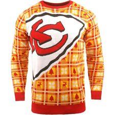 NFL UGLY Sweater Kansas City Chiefs Pullover Christmas Big Logo Football 18