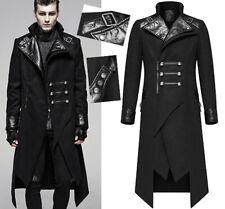 Manteau asymétrique militaire gothique punk dandy galons hiver PunkRave Homme