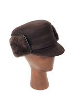 NEW Elmer Fudd Hat (Black) - Leather/ Sheepskin by Northern Hats (SKU: 13D-BLK)