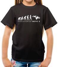 Evolution of Woman - Moto X - Kids T-Shirt - Motocross - Motorcycle - Biker