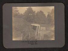 1907 RURAL POSTAL WORKER ON ROUTE Cabinet Photo, Towanda Pennsylvania