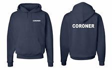 Coroner Medical Examiner Law Enforcement Hooded Sweatshirt S-5XL