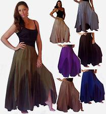 pick color & size maxi skirt elastic waist rayon stunning l xl 1x 2x 3x 4x 5x 6x