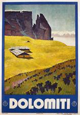 Tv62 vintage 1938 A3 Dolomiti Dolomites Italie Italien travel poster imprimer