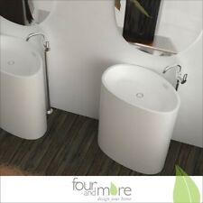 Fonte minérale évier Colonne de lavage Lavabo en blanc + Miroir 271-00-W3-82