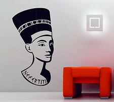 Nefertiti REINE D'EGYPTE Autocollant Mural Vinyle Décoratif Autocollant égyptien pharaon