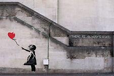 Banksy Street Art Flower Bomber Poster Print A0-A1-A2-A3-A4-A5-A6-MAXI 019