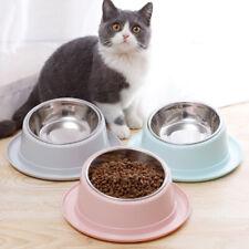 Nonslip Pet Bowl Puppy Cats Food Water Feeder Tilt Design Pets Feeding Dishes