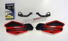 Powermadd Yamaha YFZ450R Star Handguards Black/Red with Mount Kit