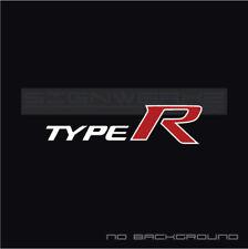 Type R decal Sticker logo Racing Civic FK8 SI SIR Turbo VTEC 2 colors Pair