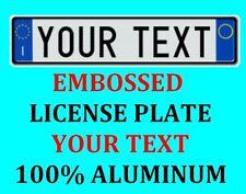 Italy Italian European Euro License Plate Number Plate Custom Text Customized