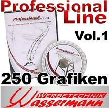 Professional-Line, Vektor-Grafik-Sammlung, vom Grafiker erstellt! 250 Grafiken