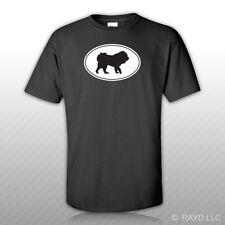 Tibetan Mastiff Euro Oval T-Shirt Tee Shirt Free Sticker dog canine pet