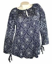 B.C. Best Connections  Blusenshirt  Shirt  Bluse Gr 34 36  blau weiß  neu
